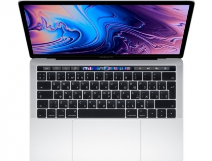 "Apple MacBook Pro 13 with Retina display and Touch Bar Mid 2019 Intel Core i5 1400MHz/13.3""/2560x1600/8GB/128GB SSD/DVD нет/Intel Iris Plus Graphics 645/Wi-Fi/Bluetooth/macOS (MUHQ2RU/A) Silver"