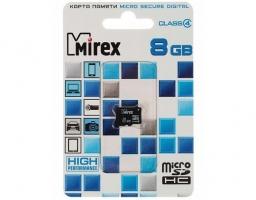 Mirex microSDHC Class 4 8GB (13612-MCROSD08)