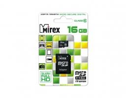Mirex microSDHC Class 10 16GB + SD adapter (13613-AD10SD16)